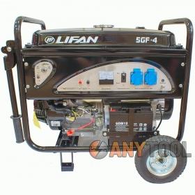 Бензиновый генератор LIFAN 5GF-4 (электро старт, колеса)