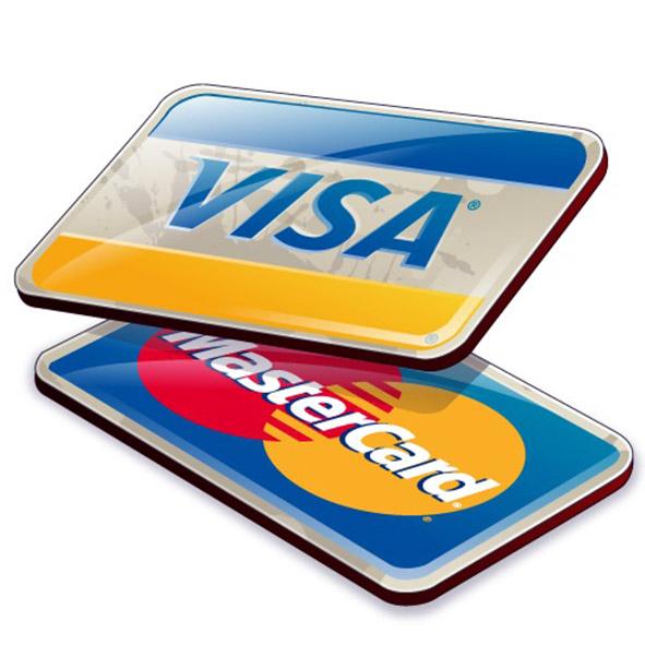 Оплата кредитными картами MasterCard, VISA, Maestro.
