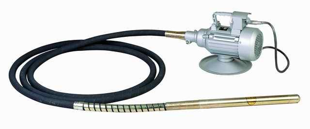 Глубинный вибратор для бетона с вибронаконечником (буловой) в сборе.